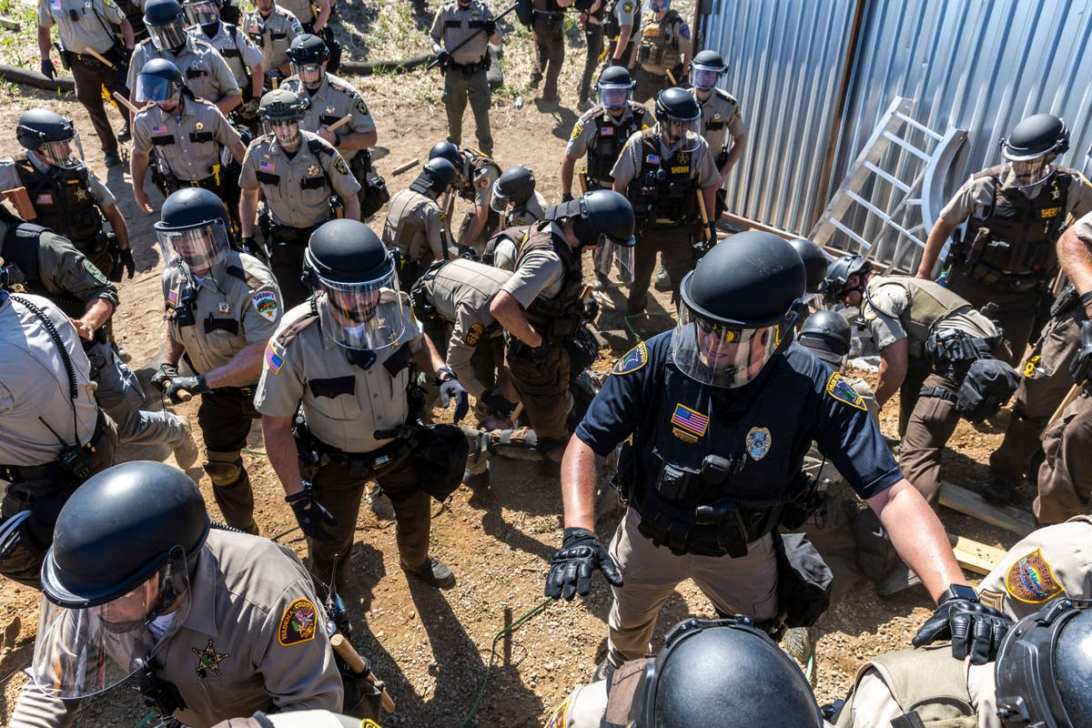 Native activist fighting Line 3 pipeline shares shocking photos of wounds from rubber bullets