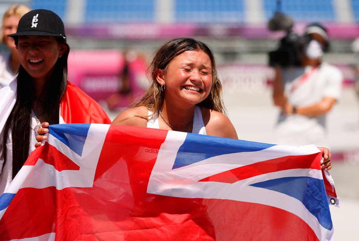 Sky Brown wins Olympic bronze medal in women's skateboarding park final at Tokyo 2020