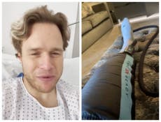 Olly Murs shares update from hospital after fearing 'the worst' following on-stage accident
