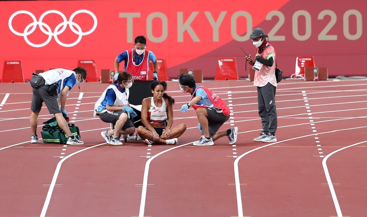 Katarina Johnson-Thompson pulls up injured to kill off heptathlon medal hopes