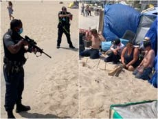 LAPD responds after video shows heavily armed police raiding homeless camp