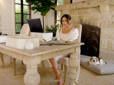 Meghan Markle shares glimpse of home office decor in new birthday video, from copies of The Bench to Hermes throw