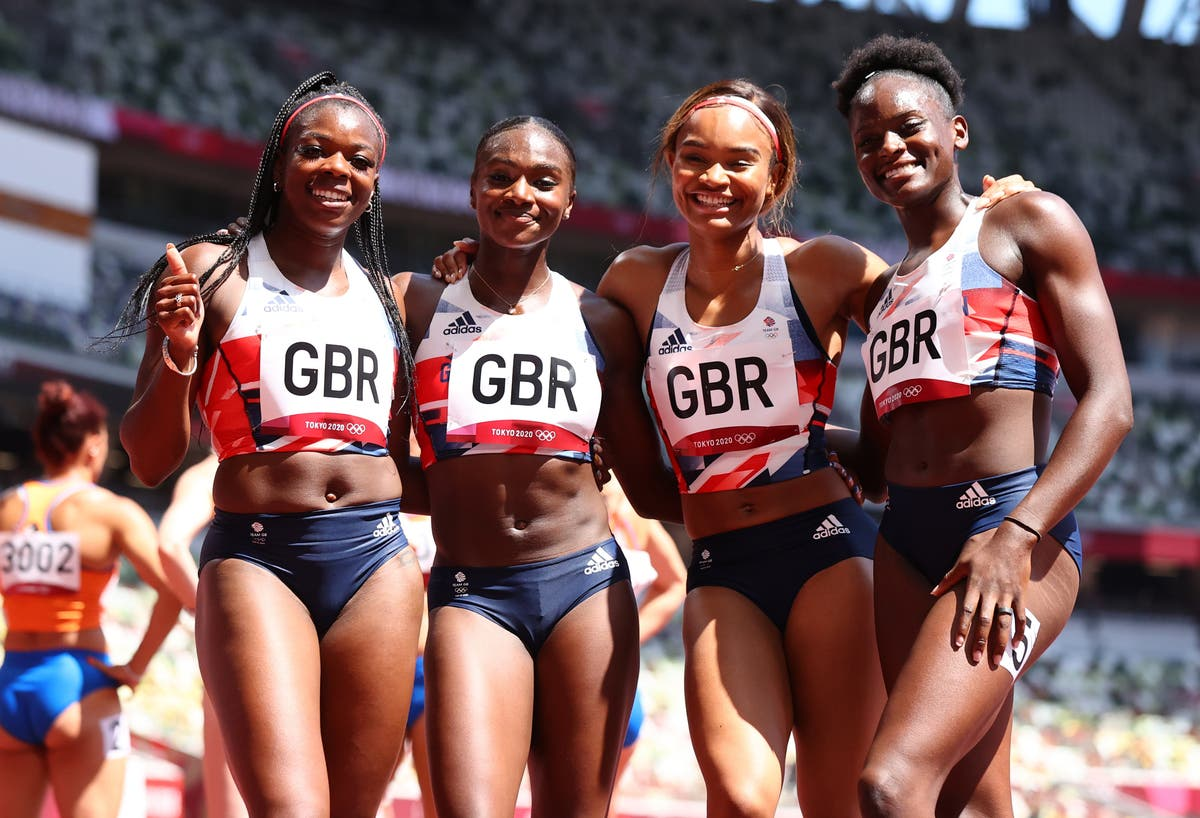 Dina Asher-Smith returns in 4x100m relay to help set new national record
