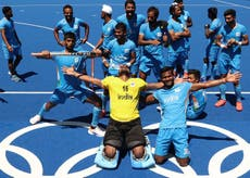 Huge wave of celebration in India as men's hockey team win first medal in 41 années