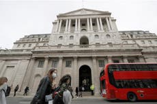 Unemployment has peaked, Bank of England says