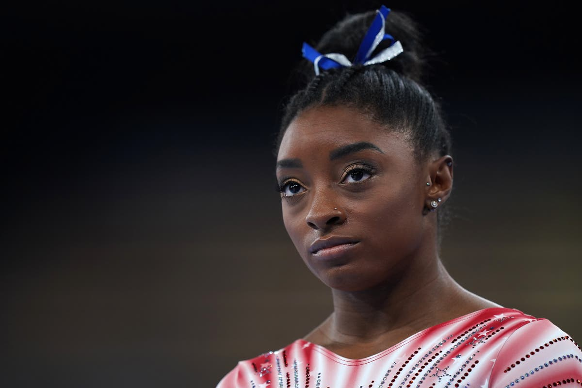 Simone Biles makes emotional return home after dramatic Olympics