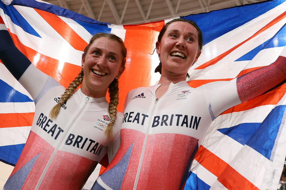 Laura Kenny and Katie Archibald win madison gold for Great Britain
