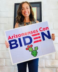 Airline forces woman to cover up Biden sign for 'offending' people