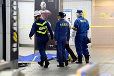 10 train passengers injured by knife attacker in Tokyo
