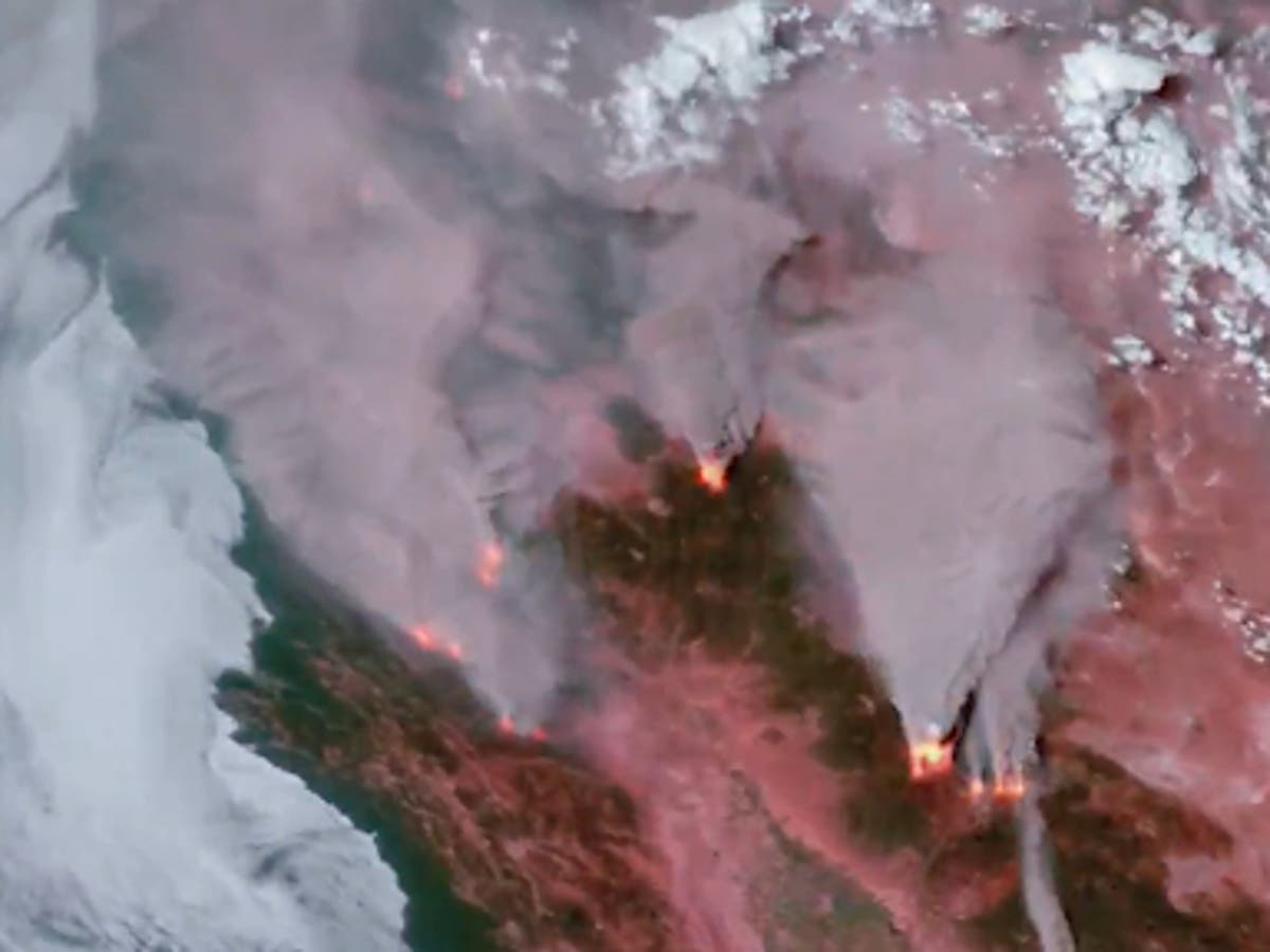 Northern California wildfires visible from space