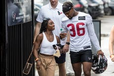 Tokyo Olympics: Simone Biles reunites with boyfriend back in Texas at NFL practice