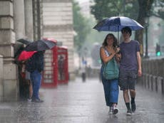 Thunderstorm warnings for large parts of UK as damp weather continues