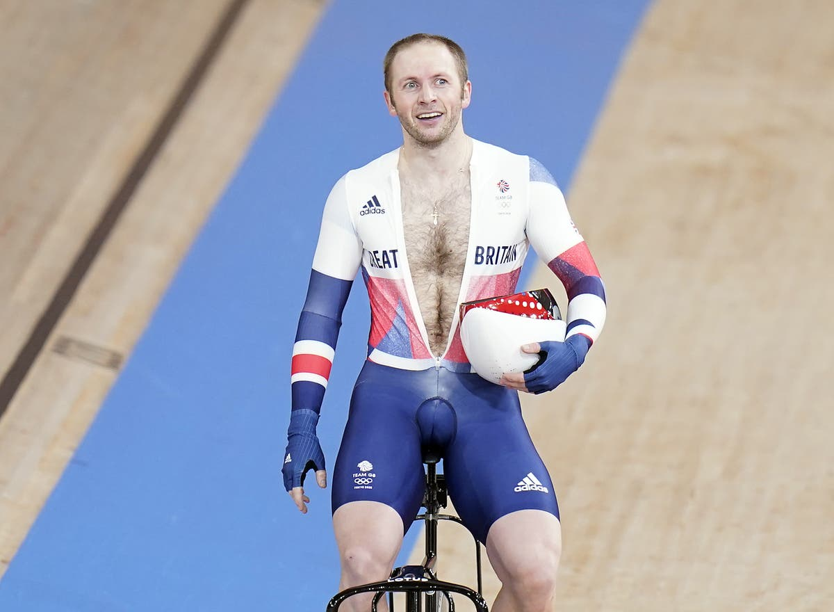 Jason Kenny in seventh heaven after winning keirin gold at Tokyo Olympics