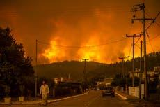Greece fires: Thousands flee homes as blaze ravages Greek island amid 'nightmarish summer'