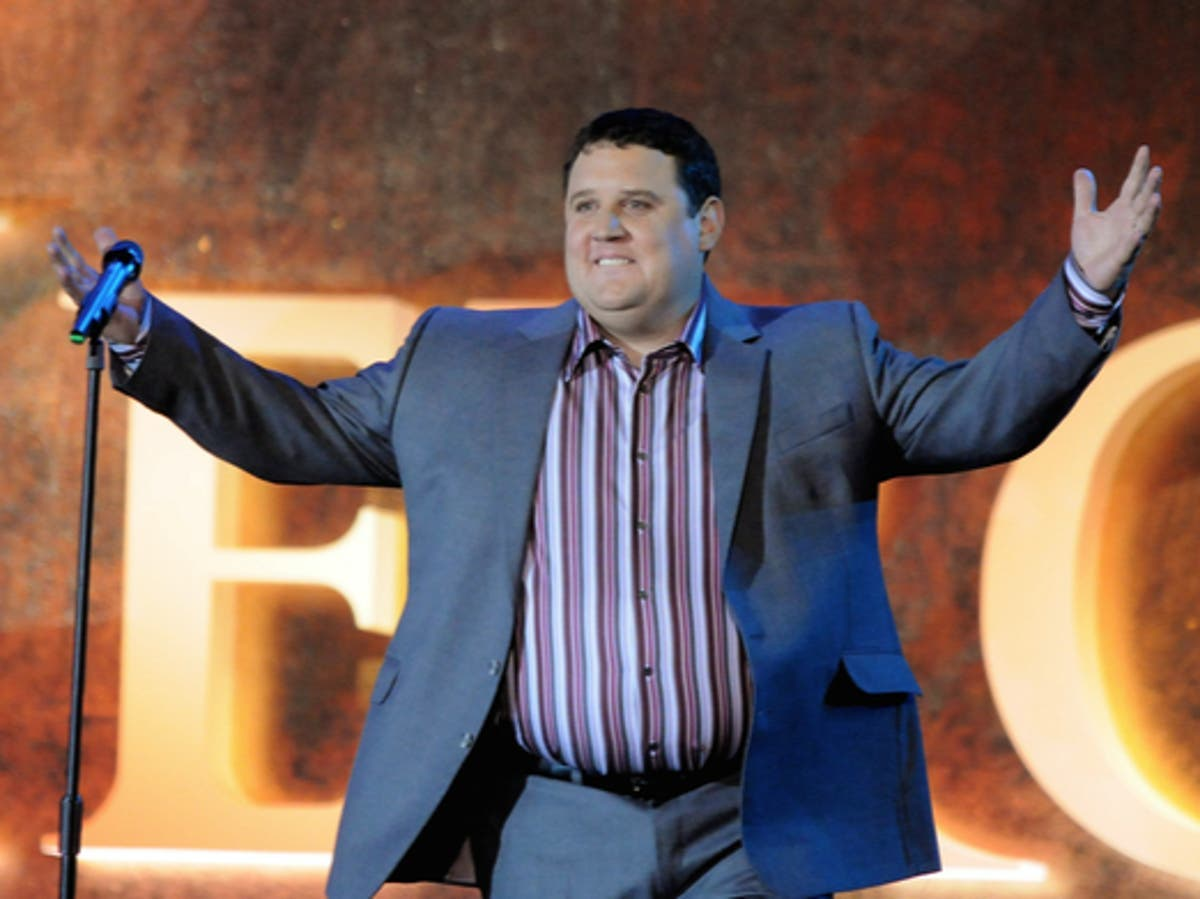 Peter Kay jokes he's 'going away for four more years' as he receives standing ovation at start of comeback show