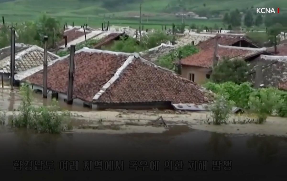 Kim Jong-un orders military help as torrential rain hits North Korea amid food shortage
