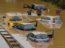 Climate crisis made severe rains behind Europe's 2021 floods 'up to nine times' more likely