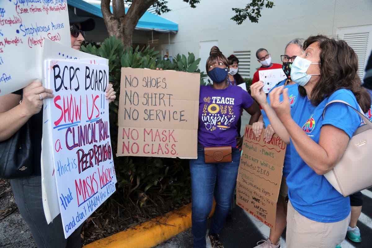 Schools defy bans on mask mandates in Texas, Florida, and Arizona