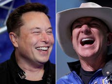 Elon Musk says Jeff Bezos would be on Pluto by now 'if lobbying and lawyers could get you to orbit'