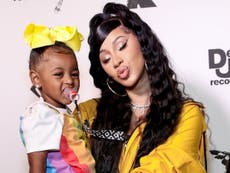 Cardi B gifted three-year-old daughter Kulture a bedazzled Birkin bag worth £35,000