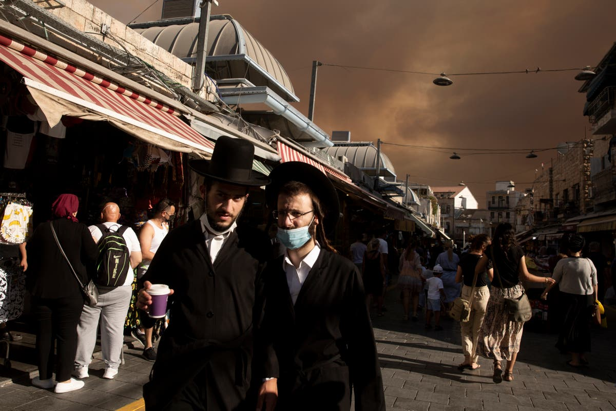 Jerusalem covered in smoke as wildfire rages outside city