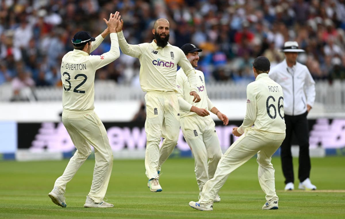 Moeen Ali and Mark Wood give England hope of victory over India at Lord's
