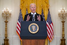 Biden admits that Taliban took over Afghanistan quicker than administration expected