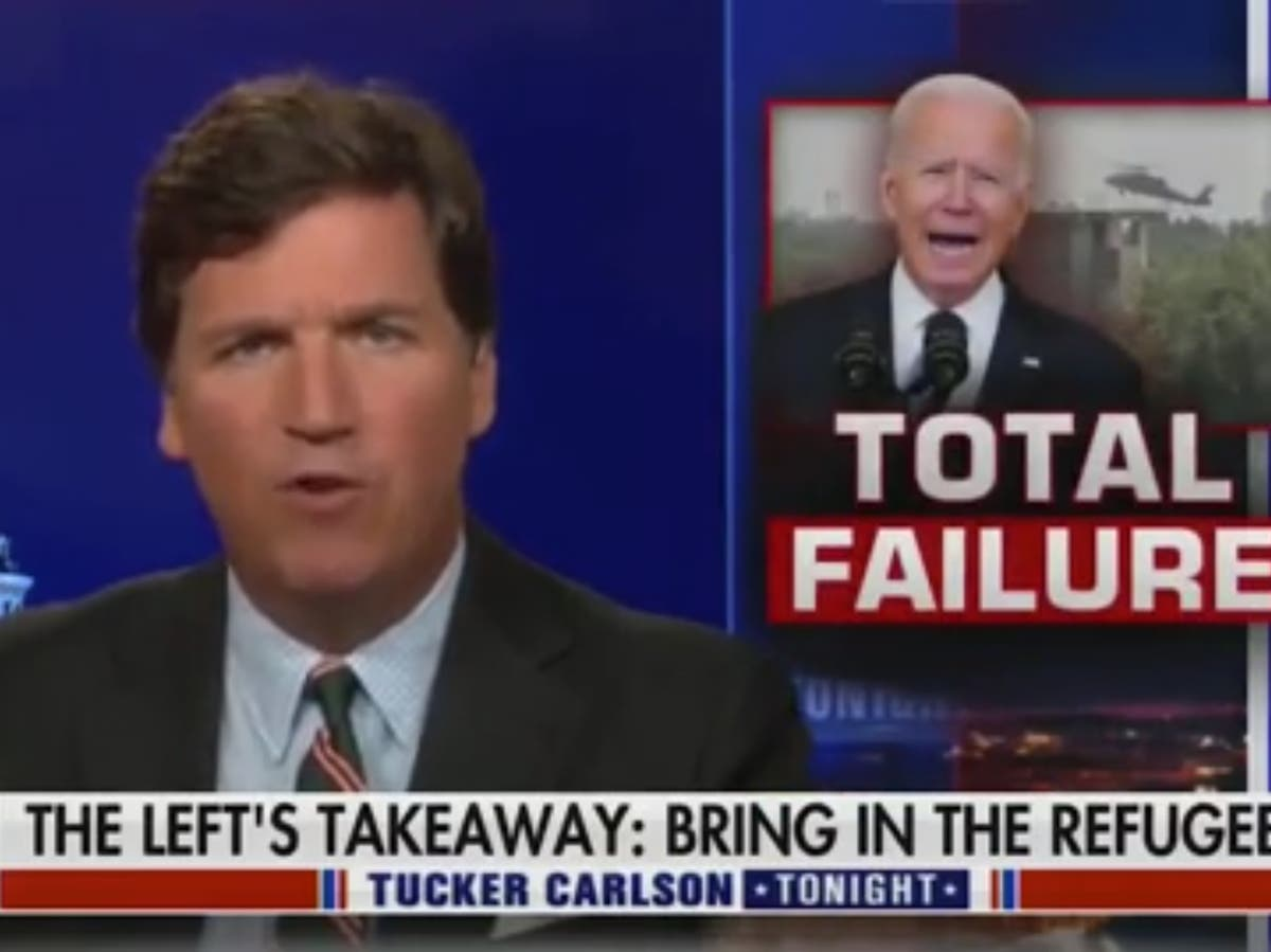 Tucker Carlson condemned for comments on Afghan refugees
