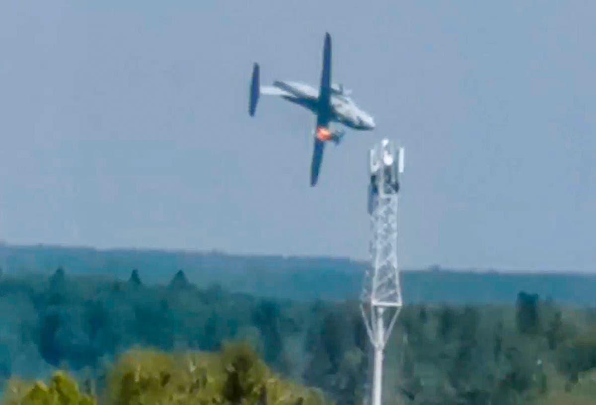 Prototype military transport plane crashes outside Moscow