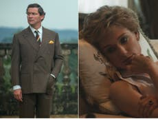 The Crown fans react to first look at Dominic West and Elizabeth Debicki as Prince Charles and Diana
