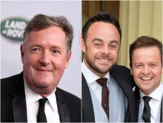 Piers Morgan hits out at Ant and Dec for winning National Television Award 19 times in a row