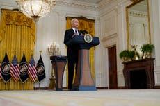 Biden: Troops will stay in Afghanistan to evacuate Americans