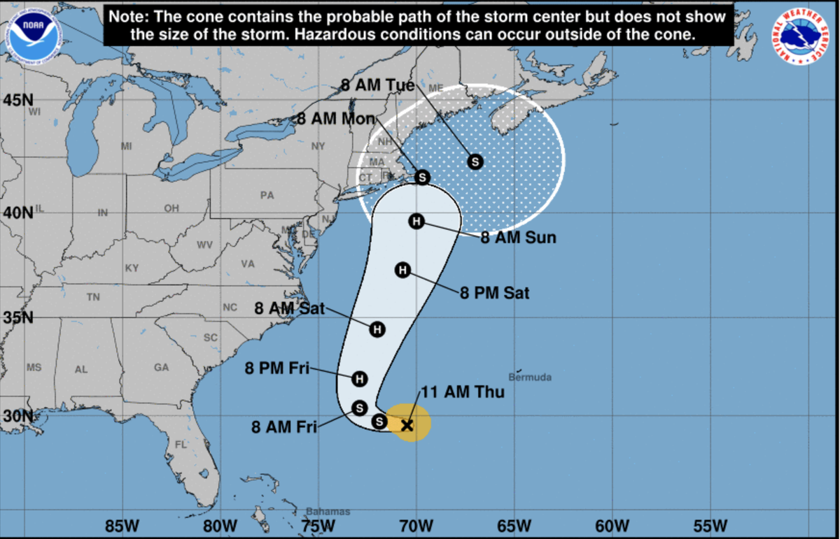 Tropical Storm Henri builds to near hurricane, shifts to New England
