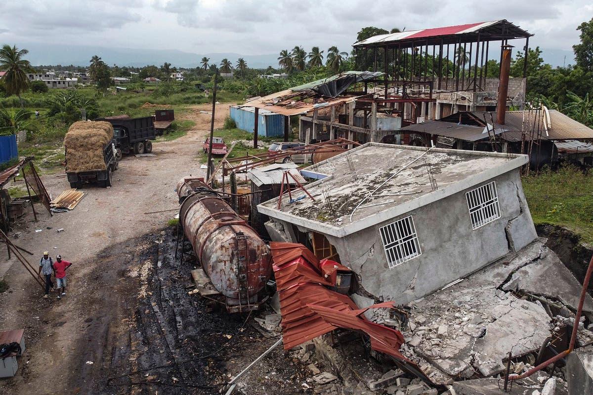 Oxygen plant among earthquake-damaged buildings in Haiti