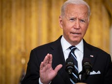 Biden speech – live: Pentagon contradicts president and reveals Taliban beating Americans en route to airport