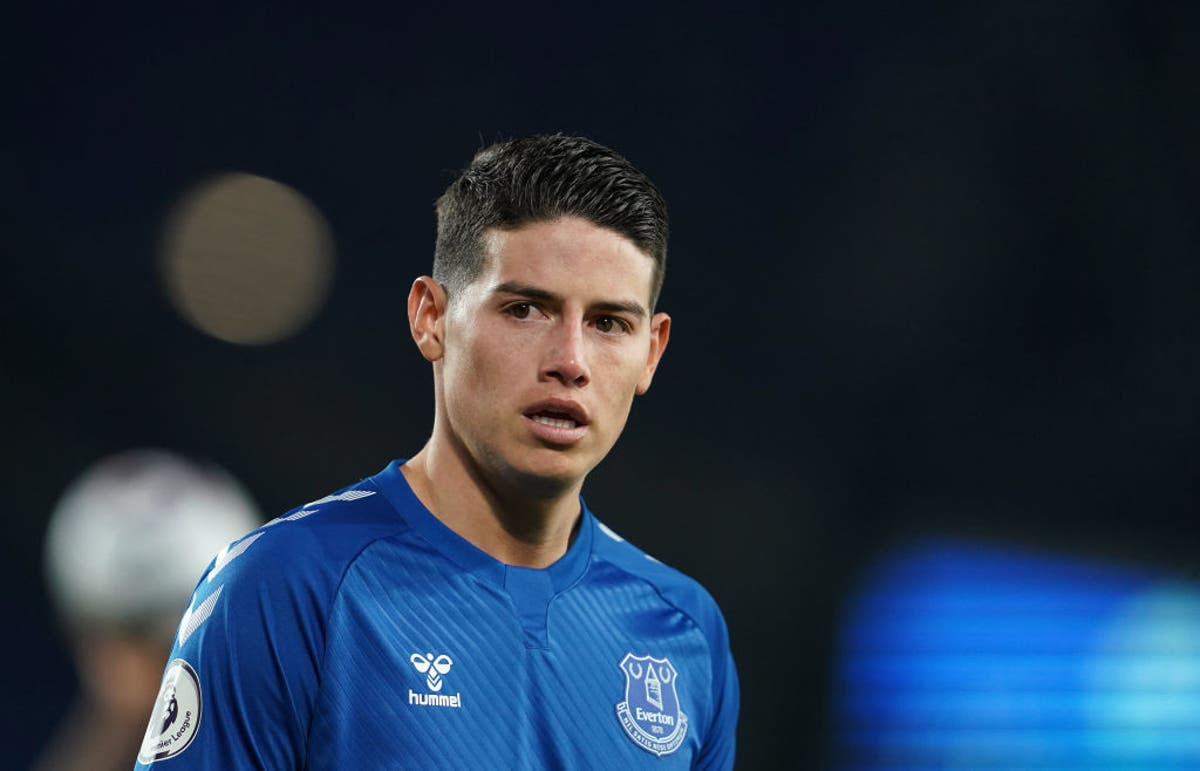 James Rodriguez admits he doesn't know who Everton are playing this weekend