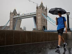 Thunderstorms set to cause 'flooding and travel chaos' in parts of UK