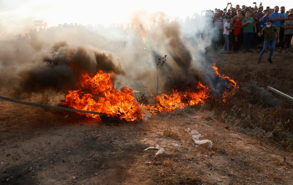 Gaza border clashes wound 24 Palestinians, Israeli policeman