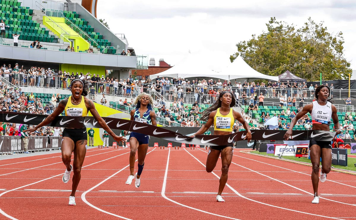 Elaine Thompson-Herah narrowly misses out on breaking 33-year-old 100m record