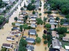 Tropical storm Henri makes landfall in Rhode Island as Biden deploys Fema to combat risk of major flooding