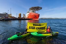 Cambo oilfield work postponed until next year after activists stage protest