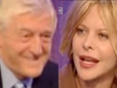 Michael Parkinson apologises to Meg Ryan over infamous 2003 interview: 'You played a part in it too'