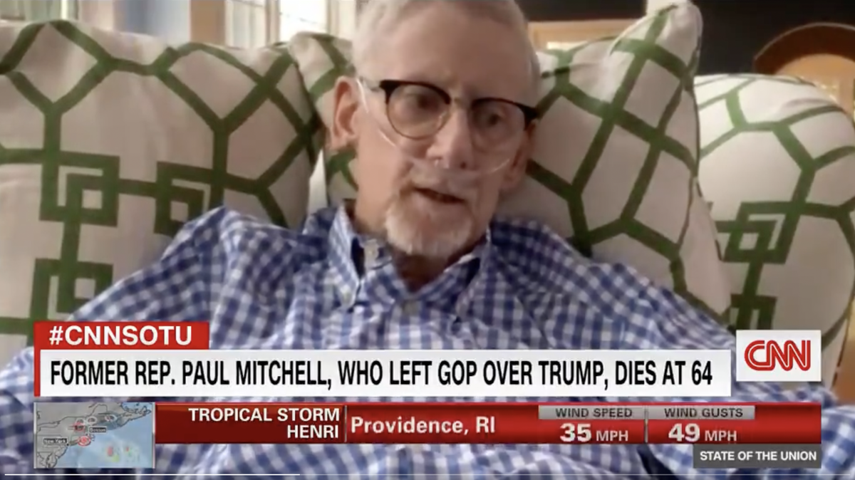 CNN airs interview with the late Rep Paul Mitchell, who quit GOP over Trump