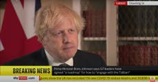 Boris Johnson demands Taliban guarantee of safe passage for people fleeing Afghanistan after 31 August pullout of US troops