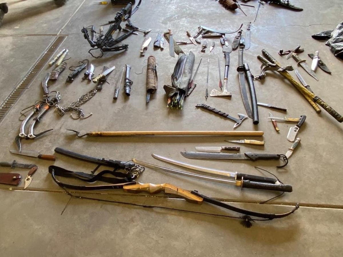 Man arrested in Colorado near hiking trail with three dozen weapons