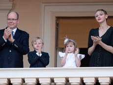 Princess Charlene says she is 'thrilled' to be reunited with family after three months apart due to operation