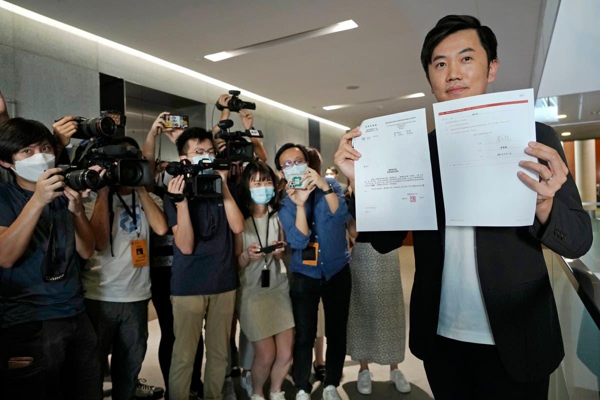 Hong Kong disqualifies independent lawmaker from legislature