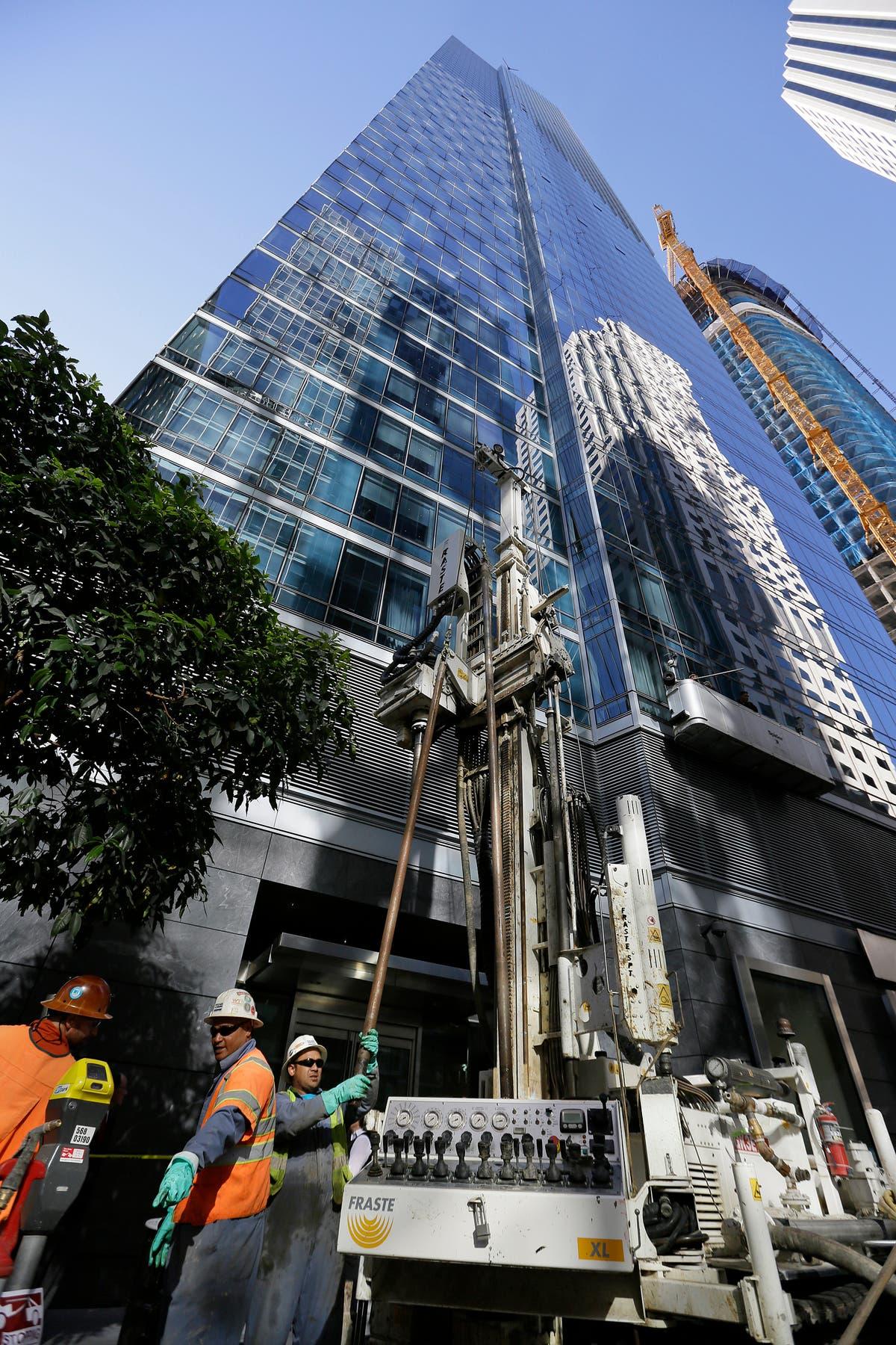 New sinking in tilting San Francisco high-rise halts repair