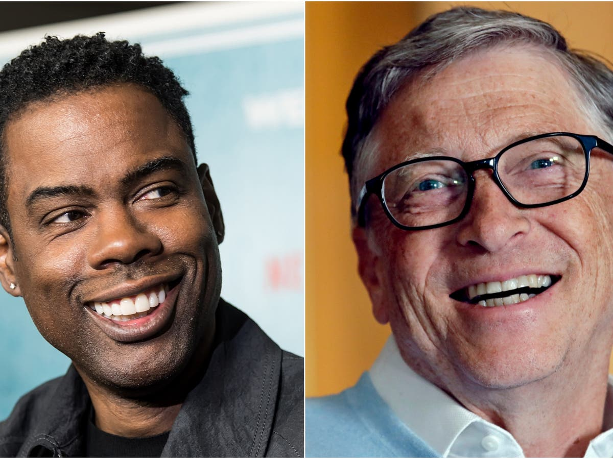Awkward moment Bill Gates watches Chris Rock joke about him in stand-up special