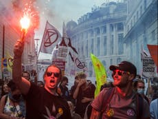 Extinction Rebellion protesters bring parts of London to standstill